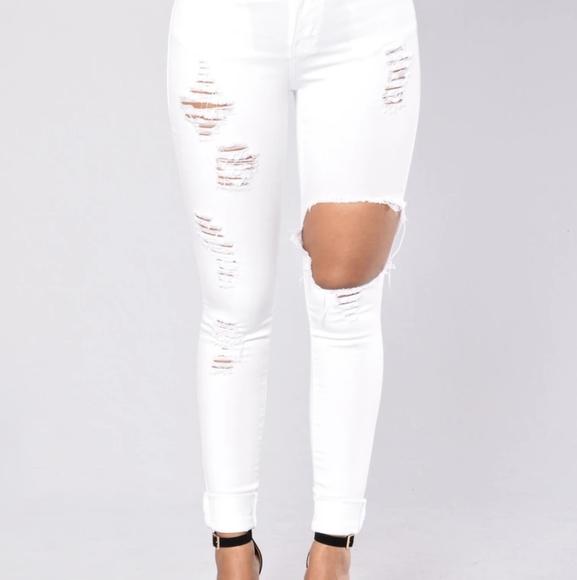 Glistening Jeans - White